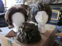 2 ladies vintage hats, $10 each, fur hat, $10, straw