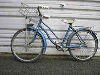 1960's Hawthorne girls bike 20in -- has front wire