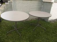 "Up For Sale Are Two Vintage Herman Miller 36"" Round"
