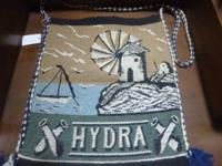 Mid Century hobo bag in great shape made in Greece for