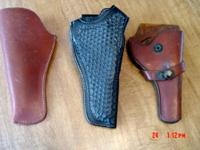 i acquired these vintage holsters and knife sheaths a