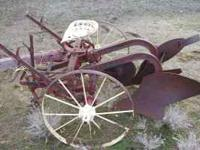 Vintage horse-drawn plow. Includes plow and pole. Great