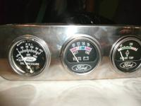Set of Old Hot Rod Ford Gauges, Oil, Volts, Coolant,