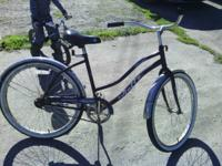This is a lady huffy bike. This is a shock this bike