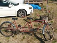 Vintage Huffy Daisy Tandem Bike. Needs restored but can