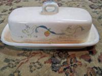 VINTAGE INTERNATIONAL CHINA STONEWARE COVERED BUTTER