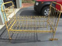 Vintage Iron Baby Bed, Convert It To a Daybed,