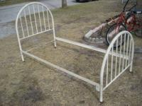 Old Farmhouse style metal bed With a Head board and