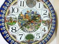 Colorful Hand-Painted Armenian Ceramic Wall Clock from