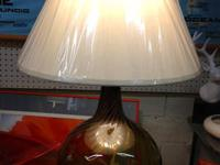 Vintage Italian Murano Hand Blown Glass Lamp On Ormolu