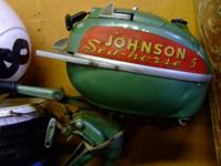 Classic 1951-52 Johnson Seahorse 5 hp outboard engine.
