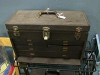 Rustic 8 compartment toolbox in good condition. Kennedy