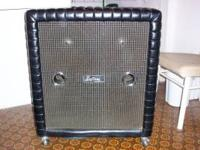 �  VINTAGE KUSTOM TUCK AND ROLL 4X12 CAB W/COVER