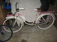 "Vintage 26"" Ladies Schwinn Bike- Pink with headlight"