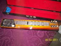 Very rare Vintage Lap Steel Guitar. Beautiful tobacco