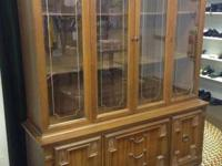 This is a Vintage Large Wooden Hutch with Drawers. It