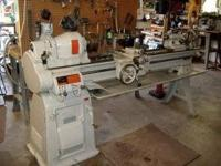 COMES WITH TOOLING 10 X 20 HAS A SET OF THREADING GEARS