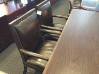 Vintage Lawyer LEATHER Visitor Arm Chairs. $269.00