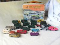 Great deal of 22 Vintage Matchbox Cars and PIT STOP lug