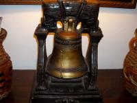 HERE IS A NICE VINTAGE LIBERTY BELL LAMP WORKS GOOD AS