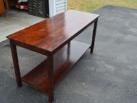 "This is a gorgeous solid vintage library table 60""x24""."