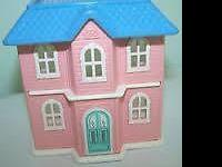 Vintage LITTLE TIKES BARBIE VICTORIAN DOLLHOUSE 37""