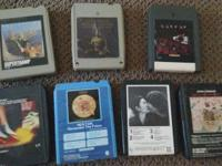 This is an AS-IS offering lot of 8-track tapes. There