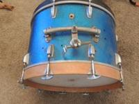 "nice vintage 16"" x 22"" Ludwig bass drum.  sounds"