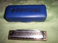 I AM SELLING A VINTAGE M. HOHNER BLUES HARP HARMONICA,