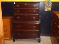 I HAVE A NICE VINTAGE CHEST ON CHEST FOR SALE. IT HAS 5