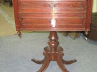 Radio Accent Table Cabinet Solid Mahogany Wood Case