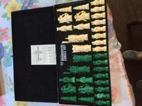 This is a Vintage Mandarin Chess Set. It is a