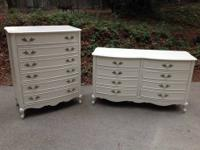 This is a gorgeous and rare matching French dresser set