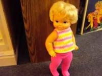 Vintage Mattel Tippe Toe Doll Has original Box Doll,