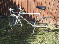 Yes a vintage goodie...recently tuned up, racing bike
