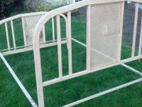 We have a nice old metal bed frame that plannings to
