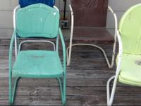We have 6 heavy duty lawn chairs, (4 shown) such as the