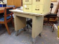 "Vintage Metal Side Table 39"" wide x 20"" deep x 30"""