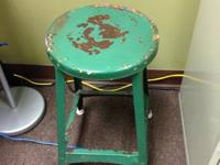 Cool old vintage stool. Uncertain of age but declare