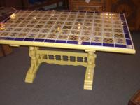 Vintage Mexican Tile Table   $396