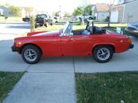 1979 MG Midget with 1275cc dual carburetor engine:::