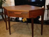 Vintage mid-century modern corner desk/or table w/5