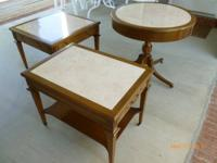 Nice mid-century tables made by Mersman. Walnut with