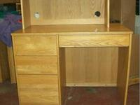 "Desk measures approximately 60"" x 30 "". It has been"
