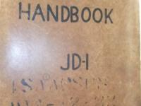 ORIGINAL pilots handbook for Douglas A26 (B26), JD-1