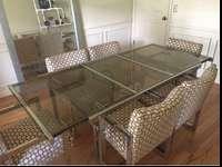 Vintage Milo Baughman mid century modern dining table