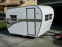 This is a new custom built scaled down vintage trailer.