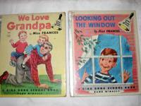 "Available are two vintage Miss Frances' books ""We Love"