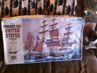 "Revell Frigate USS United States "" Old Wagon"" Ship"