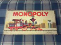 Vintage Monopoly games from 1936 & 1957...The box is